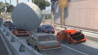 Giant Balls vs. Cars 2 | BeamNG.drive