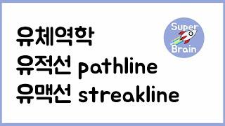 유체역학 041 유적선과 유맥선 pathline streakline