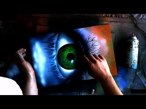Spray Paint Art 18 - Forlorn Eye