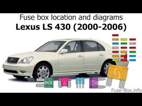 fuse box location and diagrams lexus ls430 2000 2006. Black Bedroom Furniture Sets. Home Design Ideas
