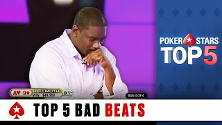 Repeat youtube video 5 Worst Poker Bad Beats | PokerStars