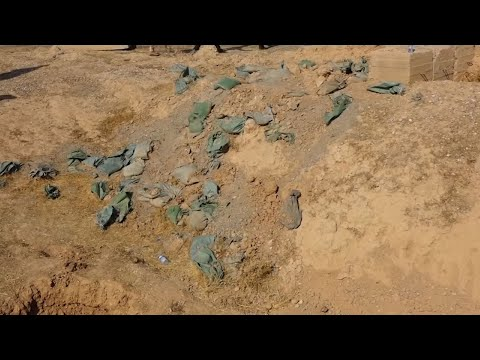 Raw: Iraqi Forces Find Mass Graves