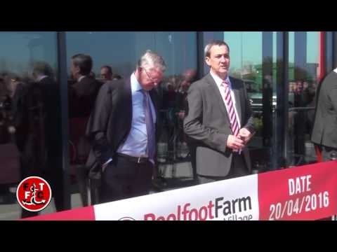 EXCLUSIVE FOOTAGE: Sir Alex Ferguson officially opening Fleetwood Town's new training complex