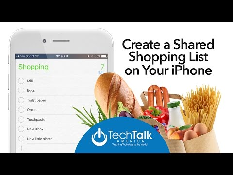 Create a Shared Shopping List on Your iPhone