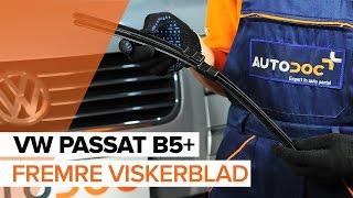 Hvordan bytte Fremre viskerblad på VW PASSAT B5+ [BRUKSANVISNING]