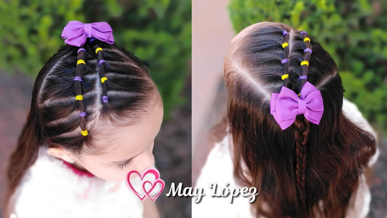 Peinado Para Ninas Facil Con Ligas May Lopez