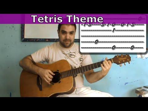 Tutorial: Tetris Theme (Korobeiniki) - Fingerstyle Guitar w/ TAB