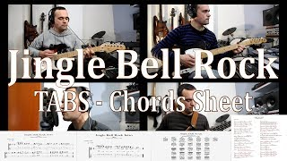 Jingle Bell Rock (Glee Version), Guitar Lesson, Tab, Chord Diagrams, Solo and Backing Tracks