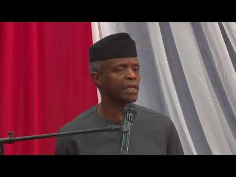 Prof. Yemi Osinbajo at the National Security Summit
