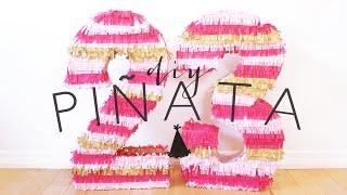 DIY BIRTHDAY NUMBER PINATA | THE SORRY GIRLS