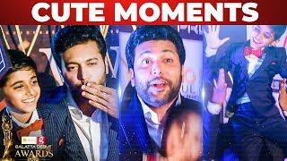 Jayam Ravi & Aarav Ravi Cute Moments! | Galatta Debut Awards