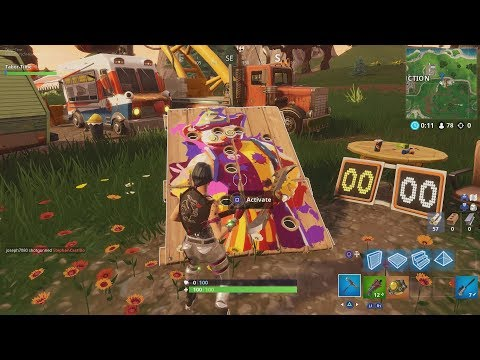 "All ""Carnival Clown Board"" Locations In Fortnite - ""Get A Score Of 10"" On Carnival Clown Boards"