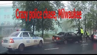 Crazy police chase, Milwaukee