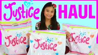 Tiana's Justice Haul 2017 Big Birthday Shopping Haul Presents