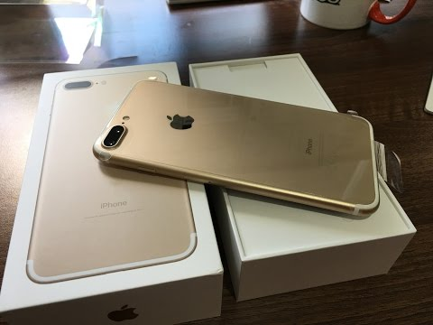Thumbnail: iPhone 7 Plus Gold 128gb Unboxing