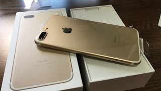 iPhone 7 Plus Gold 128gb Unboxing
