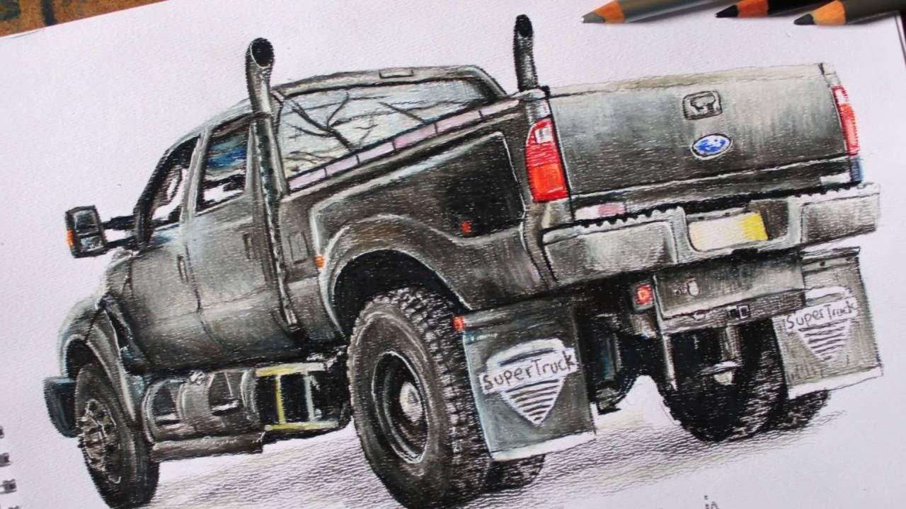 drawing ford f650 super duty [ 1280 x 720 Pixel ]