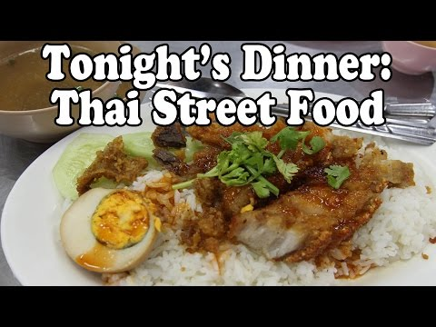 Phuket Street Food: Our Dinner Tonight. Eating Thai Street Food at a Night Market in Phuket Thailand