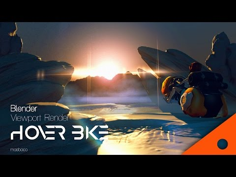 blender 2.78 real time view port GLSL render : hover bike dusk scene