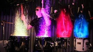 Drumming with FIRE & Water - LED Drum Show (AFISHAL)