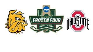 Ohio State #2 vs Minnesota Duluth #4 Highlights | 2018 NCAA Men's Hockey Frozen Four |
