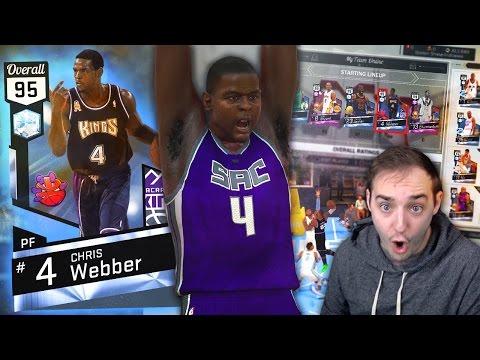 NBA 2K17 My Team BEAST DIAMOND CHRIS WEBBER DEBUT! POSTER DUNK OF THE YEAR?