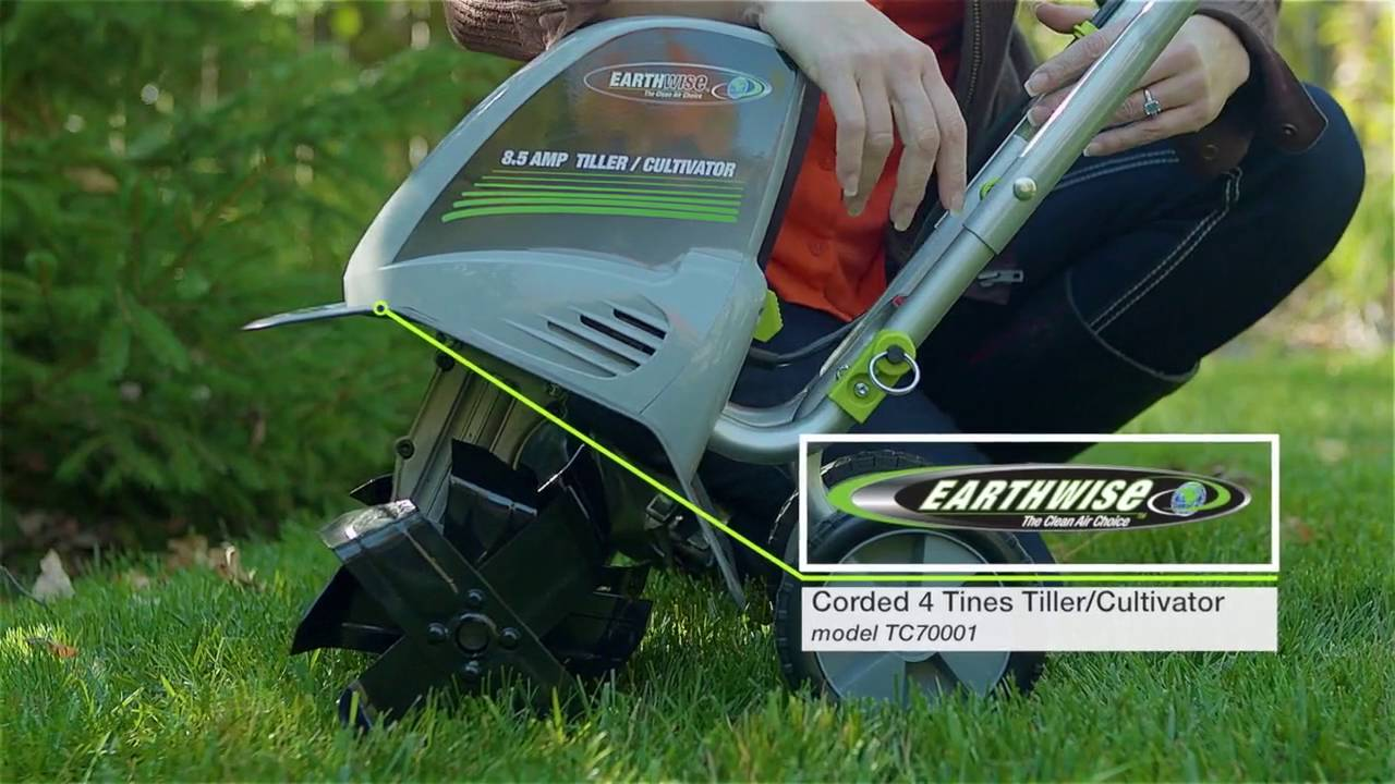 Earthwise 8 5 Amp Corded Electric Tiller Cultivator Youtube