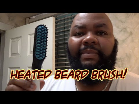 Quick And Easy Beard Straightening / Beard Styling With A Heated Brush
