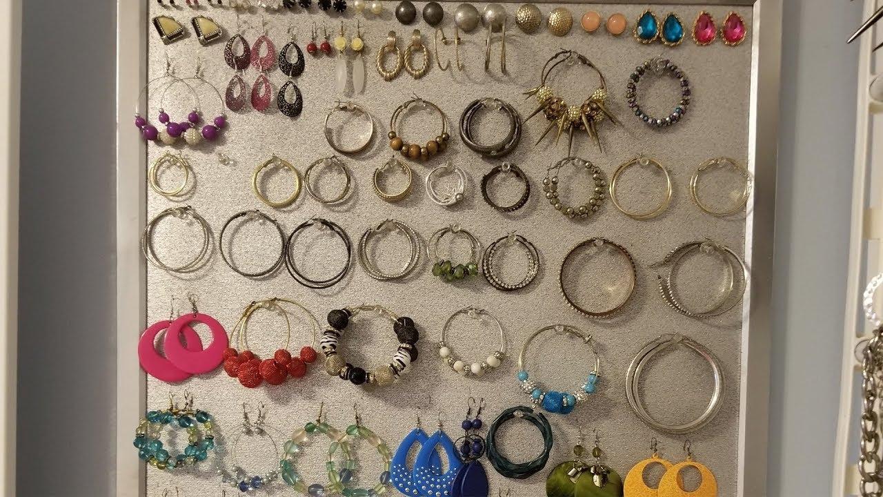 Diy Wall Jewelry Organizer Youtube