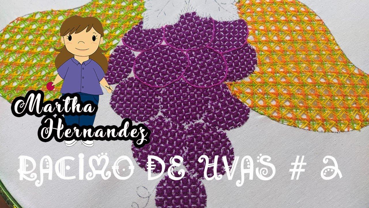 Bordado Fantasía Racimo de Uvas # 2