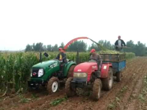 Single row side hanging silage straw feed harvesting machine