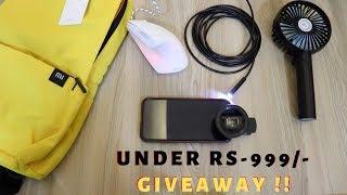 (GIVEAWAY !!) Unique Gadgets Under Rs999/- | Tech Unboxing