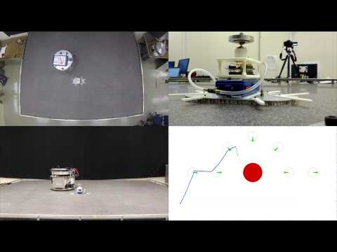 Stanford Space Robotics Facility: Obstacle Avoidance (four views)