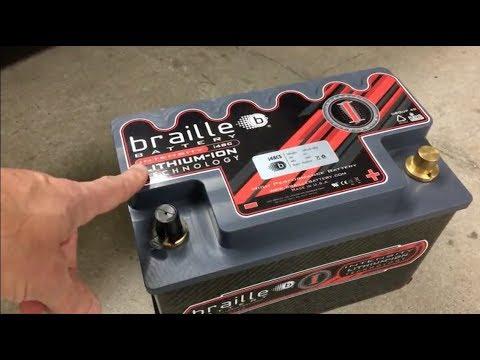 Braille lithium ion I48CS battery install Ferrari 488 GTB