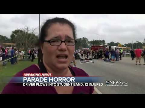 SUV crashes into high school marching band at Mardi Gras parade