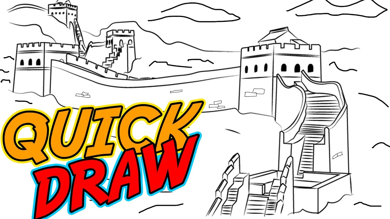 Coloring sheet great wall of china - The Great Wall Of China Quick Draw