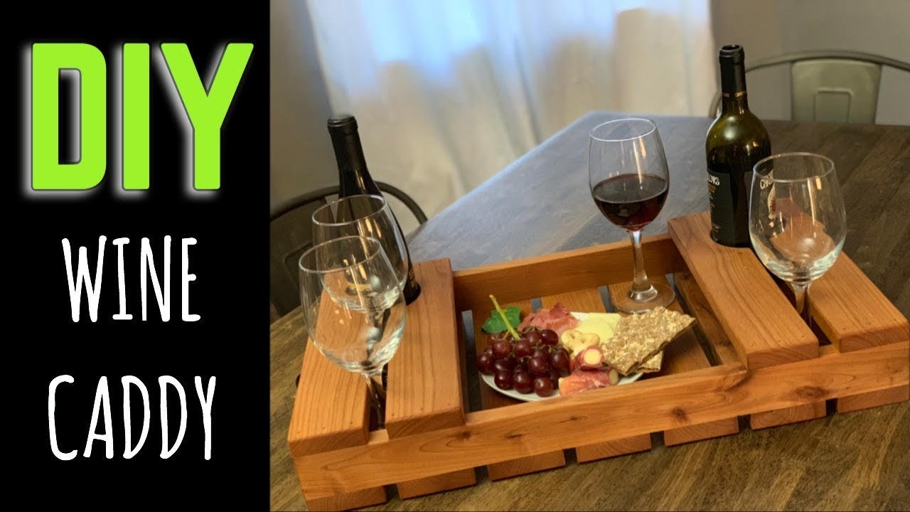 How To Make A Wine Caddy Serving Tray Youtube