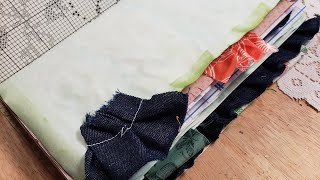 Adding Fabric Ruffles and Tabs to Journal Page Edges