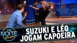 The Noite (15/11/16) - Dani Suzuki e Léo Lins jogam capoeira(Veja mais em http://www.sbt.com.br/thenoite/ Inscreva-se no canal do The Noite: http://www.youtube.com/sbtthenoite Curta a página do programa no Facebook: ..., 2016-11-16T16:22:01.000Z)