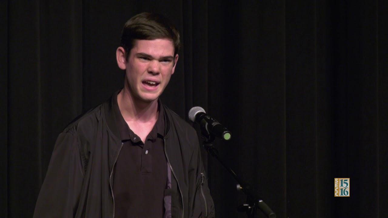 Poetry Out Loud 2018: Noah Nelken (Round 1)