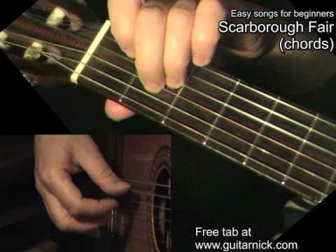SCARBOROUGH FAIR (chords): Guitar Lesson + TAB by GuitarNick - YouTube