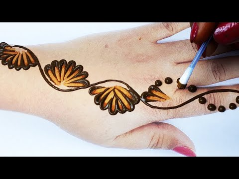 Beautiful Cotton Bud Mehndi Design Gol Tikki Mehndi Backhand- Stylish Simple Mehndi Design for Hands