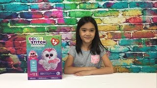 Beanie Boos Color & Stitch Color-In Pillow Kit by Ty