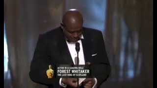 Forest Whitaker winning Best Actor for The Last King of Scotland
