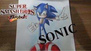Speed Drawing - Sonic (Super Smash Bros Brawl)