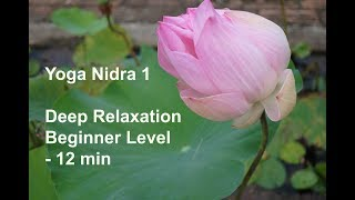 Yoga Nidra 1 - Deep Relaxation in 12 Minutes