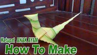 Cara Membuat Ketupat Anak Ayam dari Daun Kelapa
