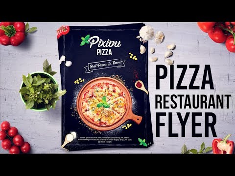 How To Design Pizza Restaurant Flyer / Poster In Photoshop