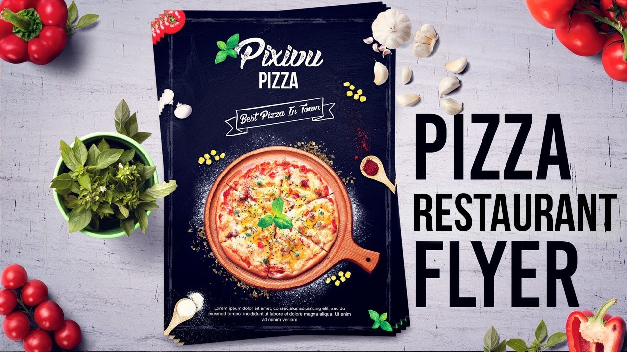 how to design pizza restaurant flyer poster in photoshop