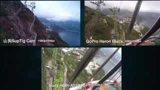運動相機大戰 ii gopro hero4 black vs sony hdras100v vs 山狗suptig cam 屎忽it人 7